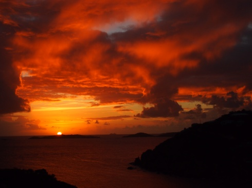 The Sun Sets on St. John