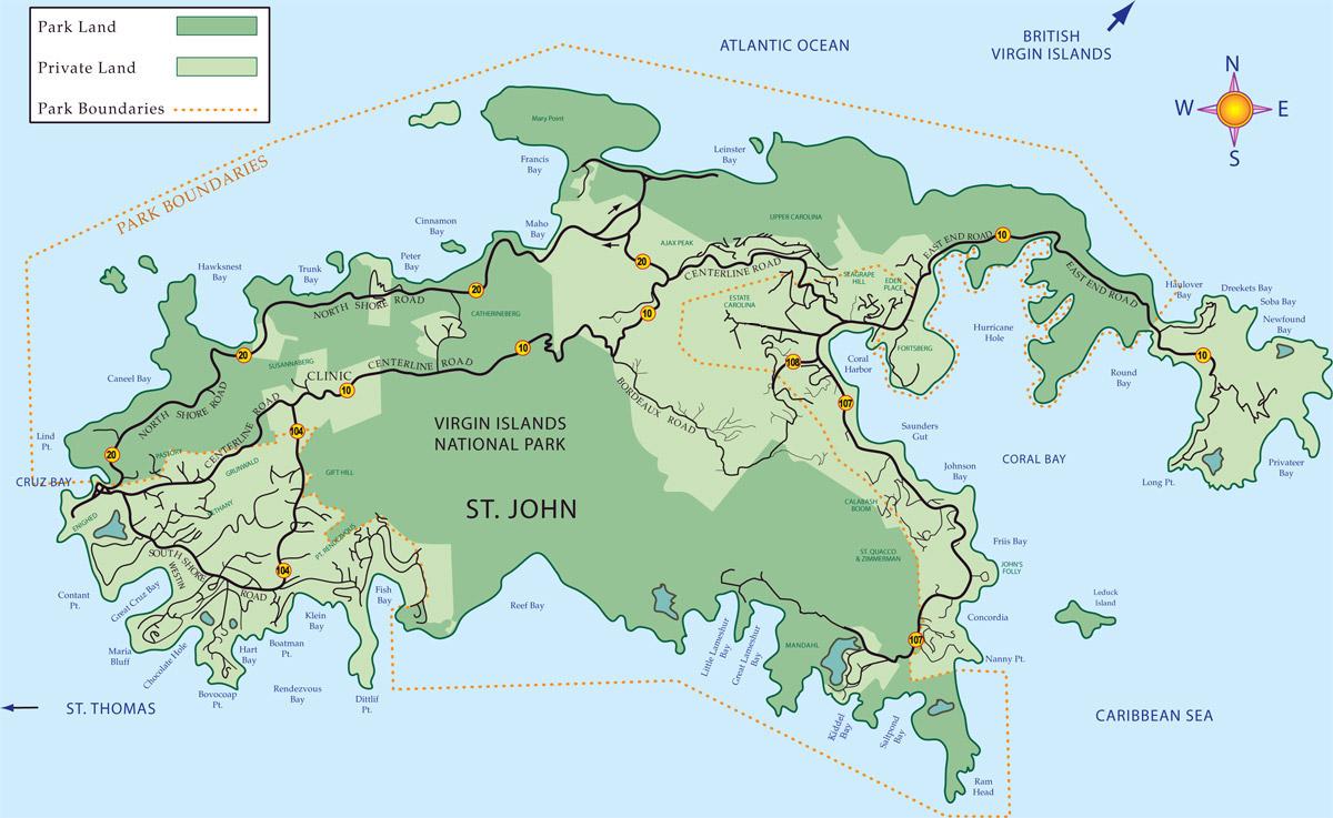 st john virgin islands map
