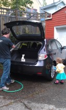 toddler activity carwash chore