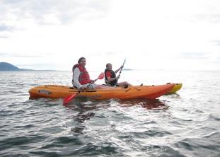 Jennifer Pasinosky, Angela Hylland, Angela Taylor, kayaking, Lummi island