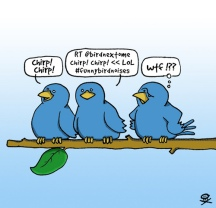 """""""Twitter Bird in Read Life"""" by Scott Hampson, Flickr Creative Commons"""