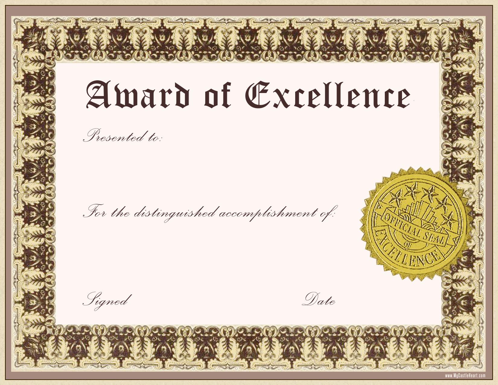 Pin Award Certificate Template on Pinterest el3KMiFe