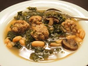 Kale-Meatball-Soup