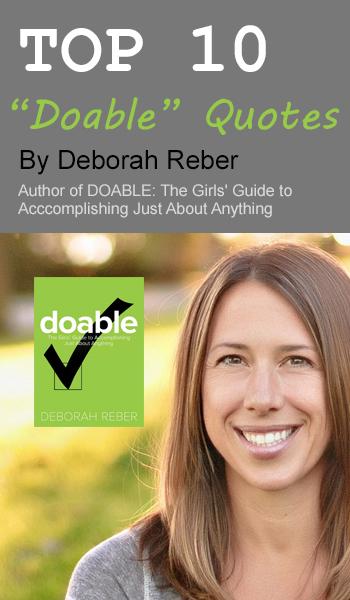 Top 10 Doable Quotes Deborah Reber
