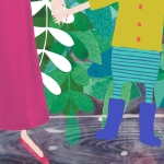 Rain Puddle Boots Illustration Denim Jungle