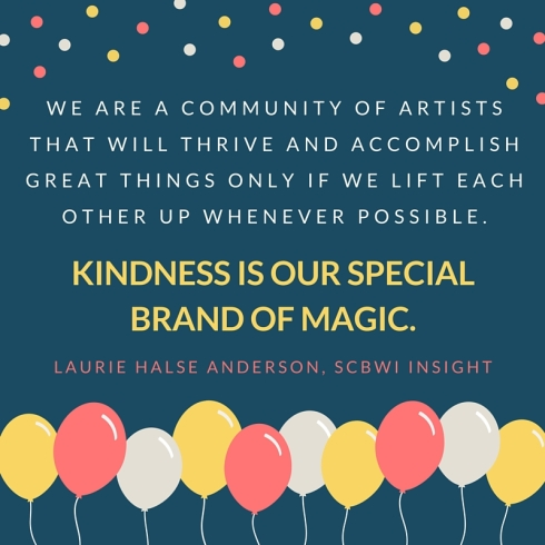 SCBWI Writer Kindness Quote