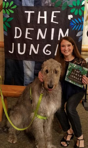 Reading With Rover Denim Jungle Banner