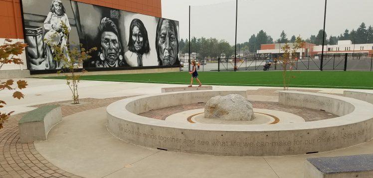 school harmony mural honor circle